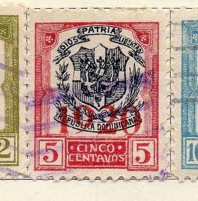 Dominican Republic 1920 Early Issue Fine Used 5c. Optd 104121