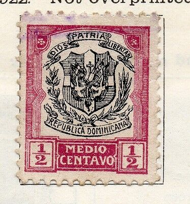 Dominican Republic 1922 Early Issue Fine Used 1/2c. 104127