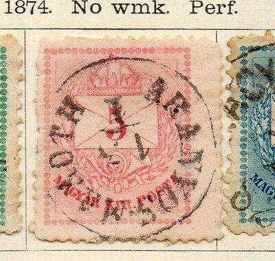Hungary 1874 Early Issue Fine Used 5Kr. 104420