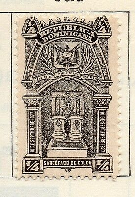 Dominican Republic 1900 Early Issue Fine Mint Hinged 1/4c. 104147