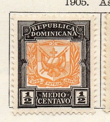 Dominican Republic 1905 Early Issue Fine Mint Hinged 1/2c. 104171