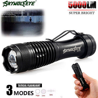 5000LM Q5 LED AA/14500 3 Modes ZOOMABLE Flashlight Torch