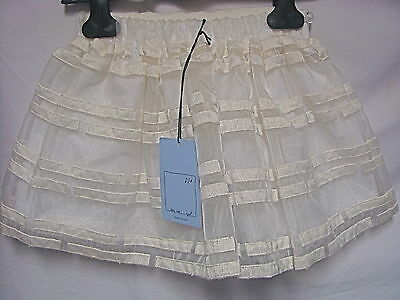 Bnwt Mi Mi Sol Waterproof  Lined Skirt With Stitching Age 9 Tag Price £219