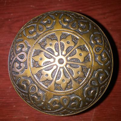 Antique Fancy Victorian 7fold Symmetry Cast Brass Doorknob