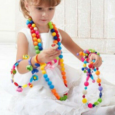 DIY Pop-Arty Snaps Conectors Beads Necklace Puzzle Toys Kids' Xmas Gifts SKY