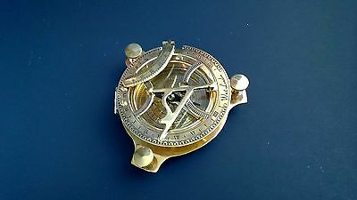Nautical Sundial 4.5 inches with Built-in Internal Magnetic Compass