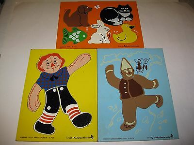 Lot of 3 Vintage Judy  Instructo Wooden Puzzles