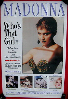 Madonna 1987 uk soundtrack poster double quad Who's That Girl mint cond unused