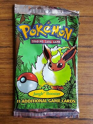 Pokemon trading cards nintendo 1999 Jungle booster pack EMPTY PACKET 2