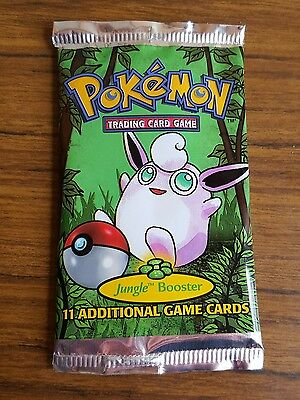 Pokemon trading cards nintendo 1999 Jungle booster pack EMPTY PACKET