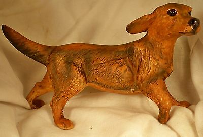 Dog Figurine IRISH SETTER Walking Porcelain VERY UNIQUE-ONE OF A KIND