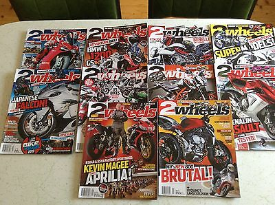 10 2 WHEELS MOTORBIKE MAGAZINES Bulk Lot