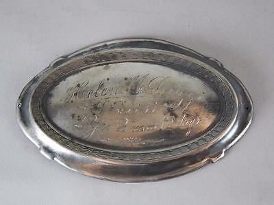 Antique Silverplated Coffin Plate Victorian Era ~ 2 Year Old Girl~ Casket Plaque