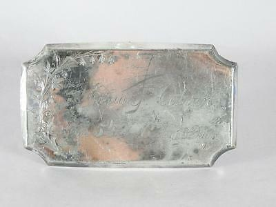 Victorian Silver Plated Coffin Plate ~ 54 Year Old Woman~ Casket Plaque