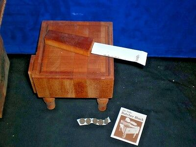 RARE Vintage New SEAGRAM'S 100 PIPERS Scotch wooden BUTCHER CHOPPING BLOCK Adams