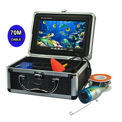 """7"""" LCD Monitor 1000TVL Underwater  Video Fishing Camera System 50/70M Cable"""