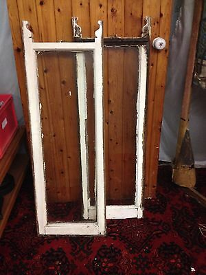 2 Old Sash Window Frames and Panes (ref138)