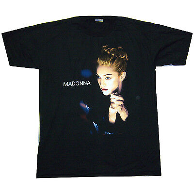 """Madonna """"folded Hands"""" Pic Something To Remember Black T-Shirt Xl New Official"""