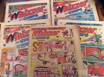 27 Vintage Whizzer & Chips Comic From 1975-81 Great Collection