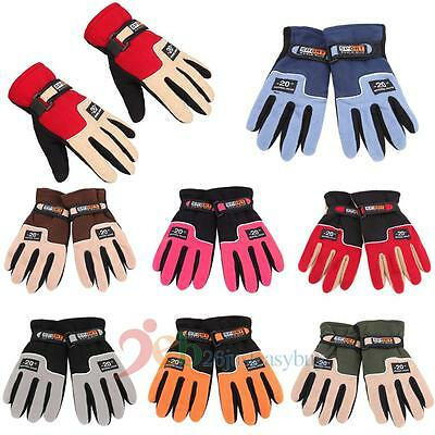 Winter Worm Full Finger Sport Riding Motorcycle Travel Ski Snow Snowboard Gloves
