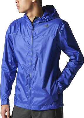 adidas Windbreaker Mens Running Jacket - Purple