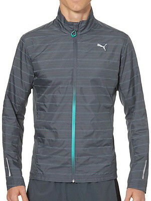Puma NightCat Reflective Mens Running Jacket - Grey