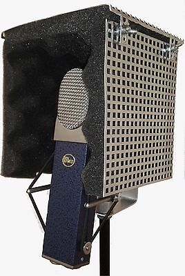 Microphone Screen Isolator Reflection Filter Shield Portable Vocal Booth W/TOP