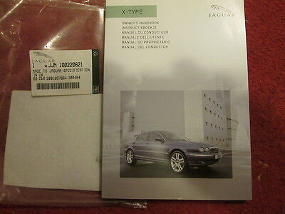 Jaguar X  Type Owners Hand Book Genuine New