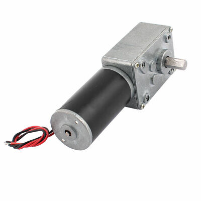 DC 12V 15RPM 8mmx14mm D-Shape Shaft Electric Power Turbo Worm Geared Motor