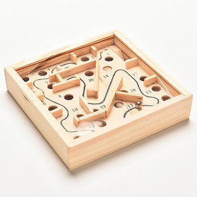 Hot Classic Toy Square Balance Board Game Wooden Maze Kids Playing Props