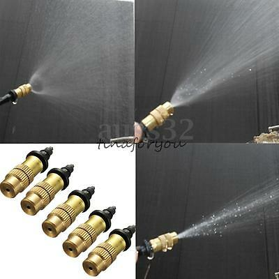 5/10X Adjustable Misting Nozzle Gardening Watering Cooling Brass Spray Sprinkler