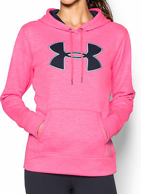 Under Armour Storm Armour Ladies Big Logo Twist Hoody - Pink