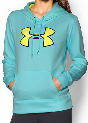 Under Armour Storm Armour Ladies Big Logo Twist Hoody - Blue