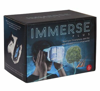 Immerse Plus VIRTUAL REALITY HEADSET watch 3D VIDEOS on SMART PHONE Thumbs UP