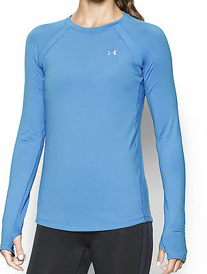Under Armour ColdGear Long Sleeve Ladies Running Top - Blue