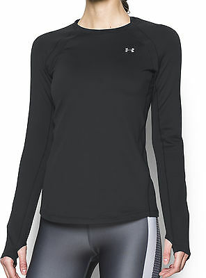 Under Armour ColdGear Long Sleeve Ladies Running Top - Black