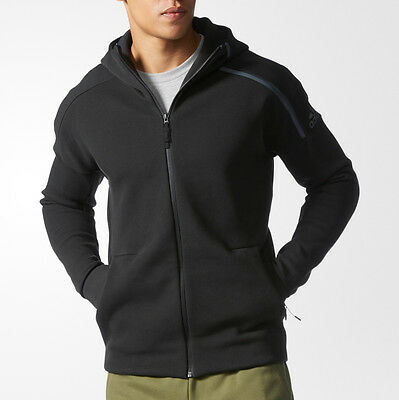 adidas Z.E.N. Full Zip Mens Training Hoody - Black