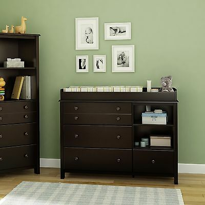 Changing Table 4 Drawer Dresser Baby Nursery Furniture Bedroom Storage Infant
