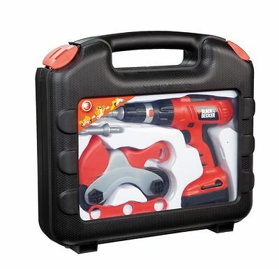 New Smoby Children's Black and Decker Tool Box Case /  Battery Powered Drill Set