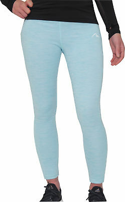 Mor Mile Heather Girls Running Tights - Blue