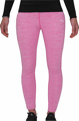 Mor Mile Heather Girls Running Tights - Pink