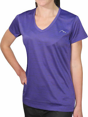 More Mile M-Tech Dry Girls Short Sleeve Running Top - Purple