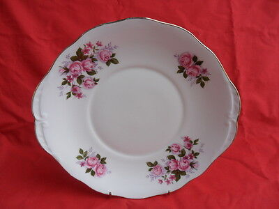 Queen Anne, Pink Roses Design Serving Plate or Cake Plate