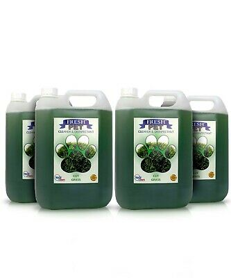 Fresh Pet Disinfectant Cleaner - Animal Safe 4 X 5L - Cut Grass - Prefilled