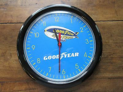 Good Year Wall Clock Battery Operated Good Year Blimp Clock for Man Cave/Garage