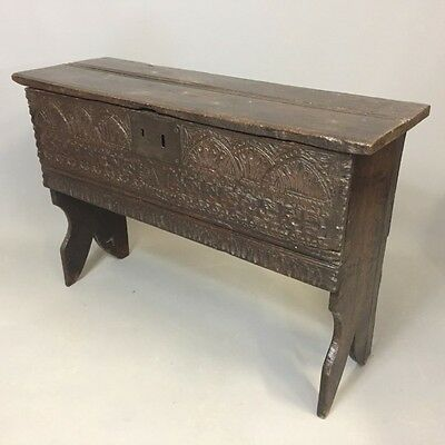 Small 17th C Oak Coffer  Ref c1181