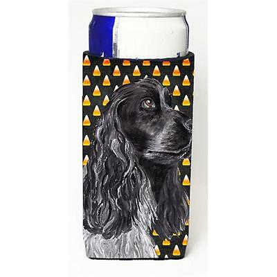 Cocker Spaniel Halloween Candy Corn Michelob Ultra bottle sleeve for Slim Can