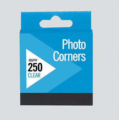 Photo Corners Invisible Clear Transparent Permanent Acid Free - Pack 250