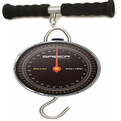 SABER 27kg 60lb Specimen Scales Carp Sea Coarse Fishing Weighing + Weigh Bar