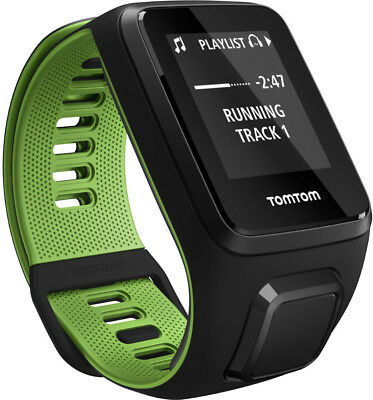 TomTom Runner 3 Cardio GPS Watch with Music Small Strap - Black